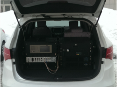BY-109 radio and television mobile monitoring vehicle.